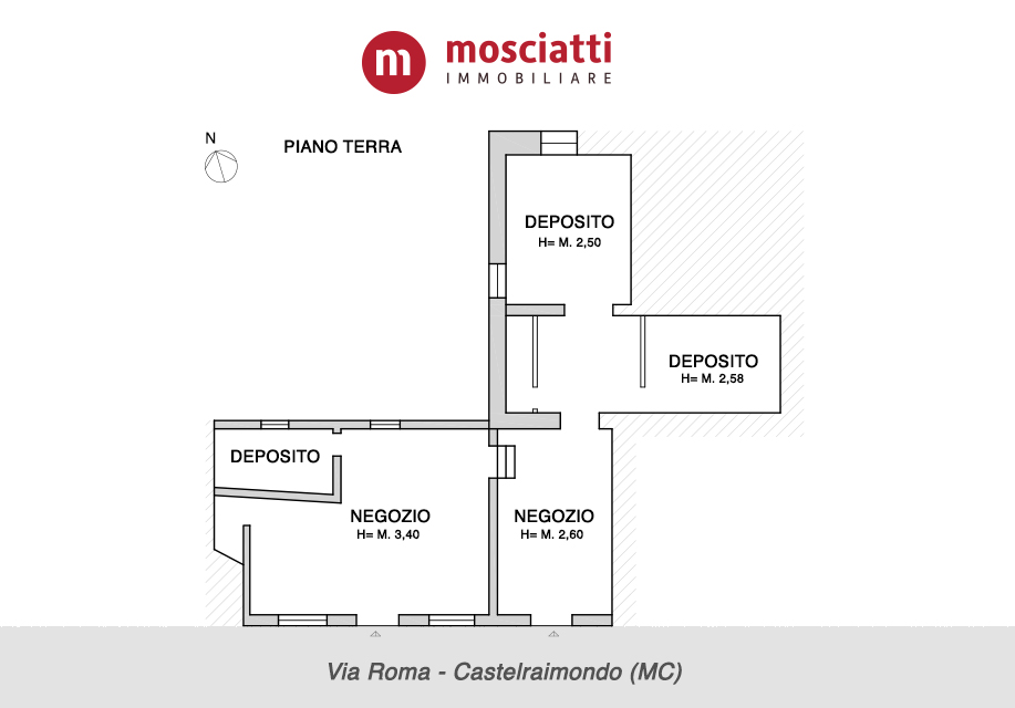 Castelraimondo, vendiamo locale commerciale, Via Roma - 1