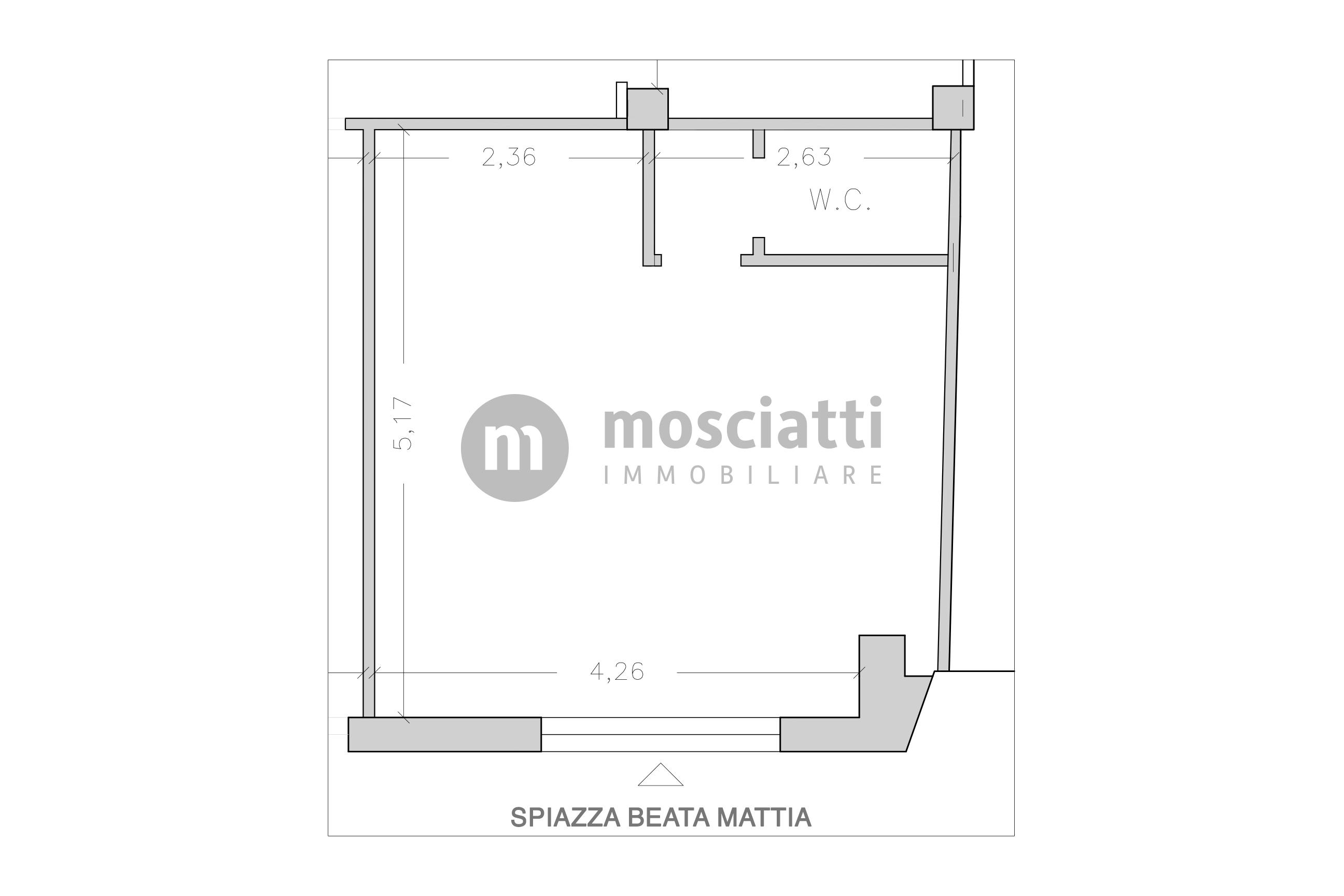 Matelica, Spiazzo Beata Mattia, affittasi locale commerciale, centro storico - 1